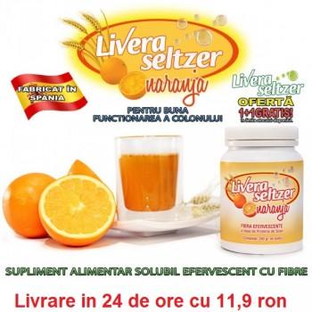 Livera Seltzer - solubil, efervescent, cu fibre pentru buna functionarea a colonului